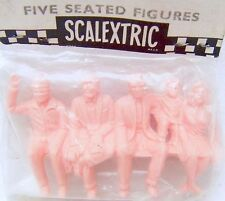 Tri-ang TRIANG Scalextric FIVE SEATED FIGURES Scenery Set MIB`70! VERY RARE!