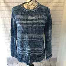 NWT Style & Co fuzzy crew chenille stripe sweater