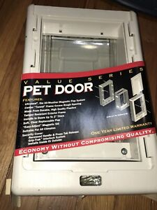 New Pet Door PET EZE Small Made USA 1997 Many Features in Value Series Easy