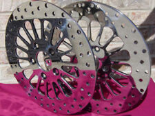 DNA SPOKE FRONT  ROTORS PAIR W/FREE  BOLTS  HARLEY DUAL DISC FXR SPORTSTER DYNA