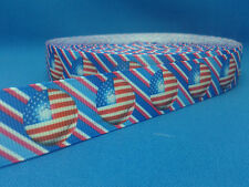 1 metre length of USA design Cake/Hair/Craft ribbon @ MrsMario's