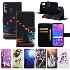 For Various Phone Hot Fashion Painted Card Wallet Purse Flip Antislip Case Cover