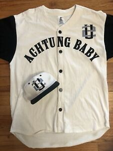 U2 Vintage Rare ACHTUNG BABY PROMO BASEBALL JERSEY & Hat 1992 VG One Size