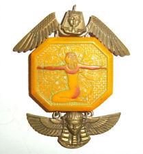 Egyptian Revival Pendant - Part Jewellery Rare Neiger Bros Czech 1920's Glass