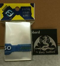 41mm x 63mm MINI American Board Game CLEAR card Sleeves  Yellow Pack FFS01