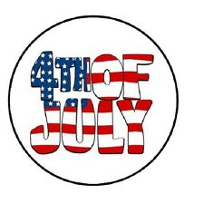 "48 4th of July!!!  ENVELOPE SEALS LABELS STICKERS 1.2"" ROUND"