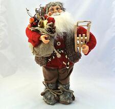 Gisela Graham 45cm Adorno Santa Claus tradicional Decoración de Navidad de pantalla