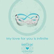 "Novità Heart to get-Argento Anello - ""My Love for you is infinite"" - Tg. 52"