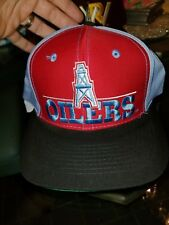 d6b8fd9d7 Vintage Houston Oilers The Game Big Logo Snapback Hat Cap NFL Football