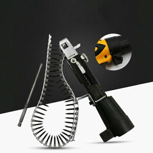 Automatic Chain Spike Nail Screw Gun Adapter For Woodwork Power Drill Cordless