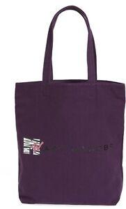 New! Marc Jacobs MTV Cottman Canvas Tote Bag Dark Purple