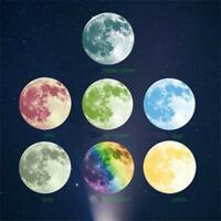 40cm 3D Large Moon Fluorescent Wall Sticker Removable Glow In The Dark Sticker