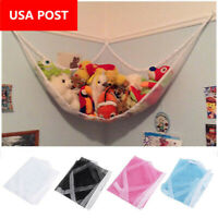 Mesh Toy Hammock Net Corner Stuffed Animals Baby Kids Hanging Storage 80*60*60cm
