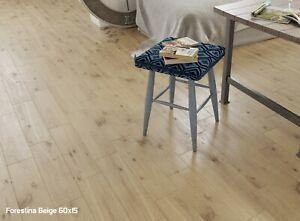 SAMPLE £11.89/m2 Porcelain Tile Beige Wood Effect 60x15 Floor Kitchen-Bathroom