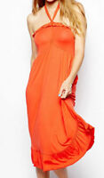 PRETTY FREYA PARADISE BRIGHT ORANGE JERSEY BEACH DRESS - SMALL - RRP £42 BNWT!