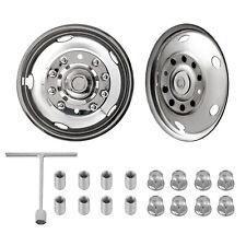 "For Ford F450 F550 19.5"" 10 LUG 05-19 Wheel Simulators Rim Liner Hubcap Covers"