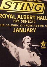 "40x60"" SUBWAY POSTER~Sting Live Royal Albert Hall 1994 Original Tour Concert NOS"