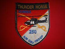 11th Armored Cav Rgt AIR CAVALRY TROOP THUNDERHORSE GUNNER 250 Vietnam War Patch
