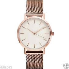 Vintage Women's Men's Wrist Watch Stainless Steel Mesh Band Analog Quartz Watch