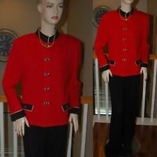 WOW STUNNING ST. JOHN KNIT RED & BLACK SANTANA KNIT PANT SUIT SZ 12