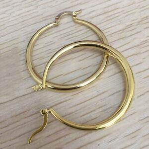 Pretty 925 Silver Hoop Earrings for Women Cubic Zirconia Wedding Jewelry
