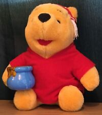 Disney / Mattel 10 Inch Winnie The Pooh Soft Toy With Light Up Honeypot