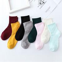 Fashion Women Men's Ankle Socks Low Cut Crew Casual Sport Color Cotton Socks