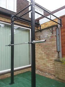 POWER RACK WALL MOUNTED & SQUAT RIG PULL UP STATION CrossFit