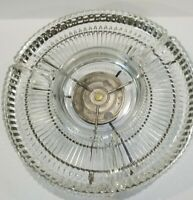 Vtg Mid Century Kromex Serving Tray Lazy Susan 4 Glass Bowls   Gold Rotate Tray