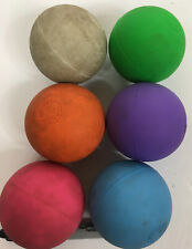 Stx Used Lot Of 6 Colored Lacrosse Balls Ncaa Rules Spec