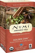 Numi Golden Chai™ Spiced Assam Black Tea - 18 Tea Bags.