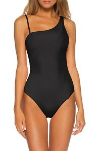 Becca By Rebecca Virtue Fine Line Rib One Piece Swimsuit Color Black Size S(29)