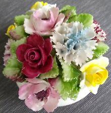 Royal Doulton Bone China 3 Leg Bowl Multi Flower Bouquet. Perfect Condition.