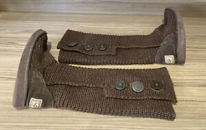 UGG 5819 Classic Carry Women's Brown Knitted Boots UK 5.5 Fold Over Boots