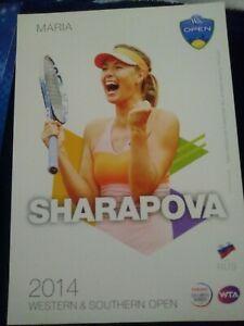 WTA WESTERN & SOUTHERN 5x7 MARIA SHARAPOVA TENNIS CARD 2014 EDITION G/AWAY