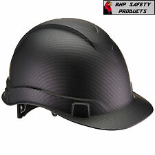 PYRAMEX RIDGELINE HARD HAT GRAPHITE PATTERN BLACK CAP STYLE CONSTRUCTION HP44117