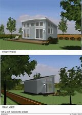SHED PLANS BLUEPRINTS  14 FT x 20 FT MODERN