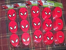 New 15 Marvel Spiderman Figural Plastic Treat Containers Birthday Party Favors