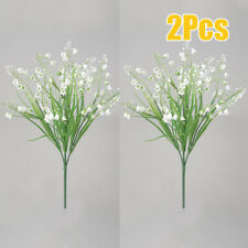 Artificial Flowers Lily Of The Valley Bunch Wedding Home Outdoor Decor 35cm