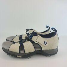 Footjoy Womens Sz 5M Greenjoys Sandals Open Toe Golf Shoes Soft Cleats 48361  C1