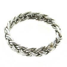 Geflochtener Wikinger Ring Silber Gothic Schmuck - NEU