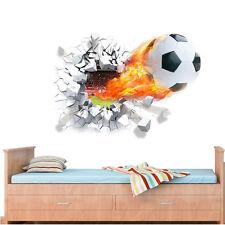 Decoración Habitación pared hogar 3D Fútbol Pared Adhesivo Vinilo Arte de Mura Calcomanía Dormitorio UK
