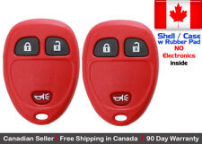 2x New Replacement Key Fob Red For Cadillac Chevrolet GMC Buick - Shell Case