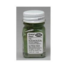 TESTORS ENAMEL #1164 FLAT GREEN PAINT 1/4 oz