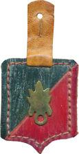3° R.E.I au MAROC, vers 1925 1930, insigne de poitrine en cuir, 50 X 40 mm(3959)