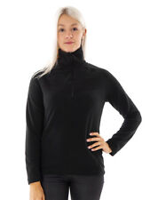 CMP Fleece Pullover Functional Sweater Top Black Collar Insulating