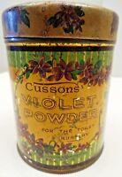 CUSSONS VIOLET TOILET POWDER ADVERTISING TIN VINTAGE LONDON MANCHESTER COLLECTIB