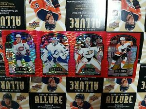 2020-21 Upper Deck Allure Red Rainbow (1-100) - YOU PICK FROM LIST
