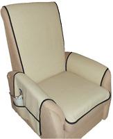 Sesselschoner  Schoner  Sesselauflage  beige  strapazierfähiger Bezugsstoff