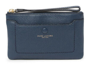 Marc Jacobs Empire City Leather Wristlet [Blue Sea] NWT $140